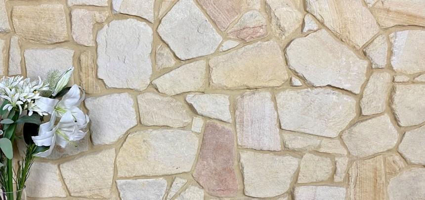 Banded irregular sandstone cladding on sale