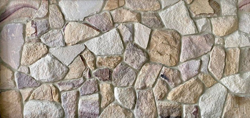 Ranch-irregular-Australian sandstone walling showroom-picture