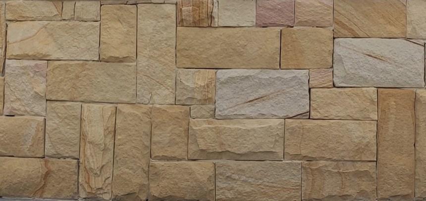 Banded colonial walling, Australian sandstone