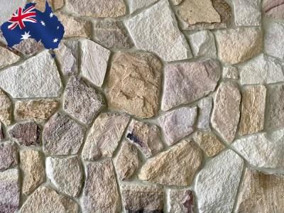 Ranch irregular Australian sandstone cladding