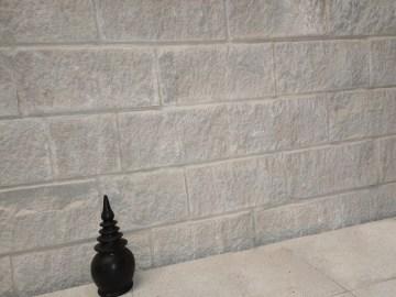 white sandstone split blocks