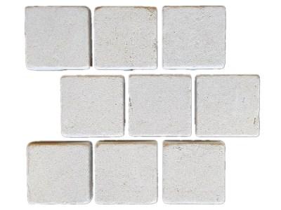 Derby brick pattern tumbled limestone cobbles