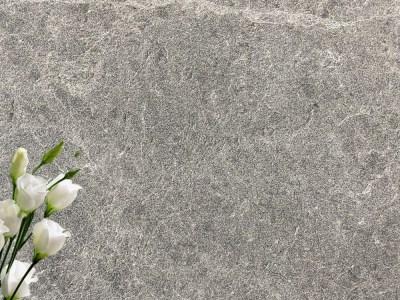 Grey sandblasted marble