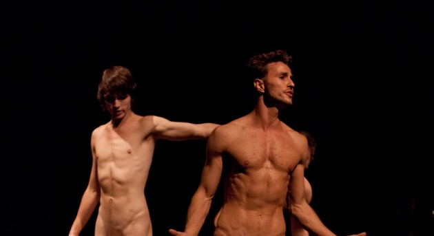 Joshua Harrison and Elijah Rohner in Naked Boys Singing. Image by Dario Gardiman