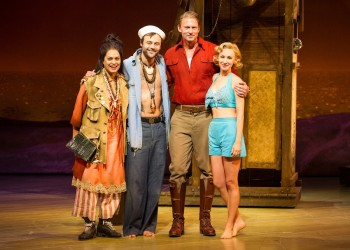 Christine Anu, Gyton Grantley, Teddy Tahu Rhodes and Lisa McCune in South Pacific.