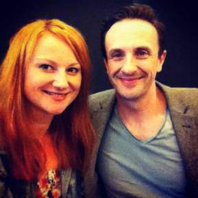 Marika Aubrey and Mitchell Butel