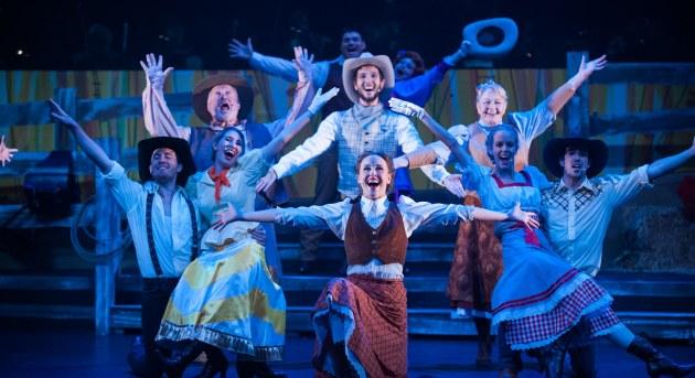 Ensemble cast of Harvest Rain's Oklahoma! Image by Trent Rouillon