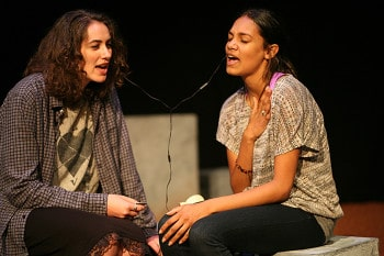 Elena Foreman and Dubs Yunupingu. By Tracey Schramm.