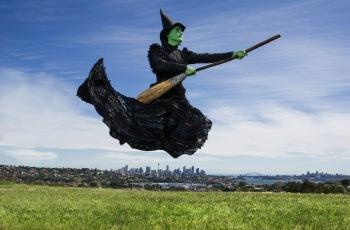 Elphaba (Jemma Rix) arrives in Sydney. Image by Kurt Sneddon