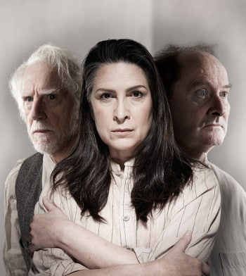 Peter Carroll, Pamela Rabe, Paul Blackwell. Image supplied by State Theatre Company of South Australia, Adelaide Festival of Arts