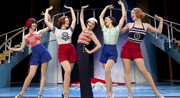 Caroline O'Connor and members of the female ensemble in Anything Goes. Image by Belinda Strodder