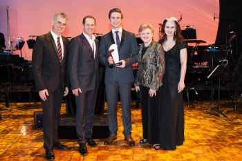 2014 winner Josh Robson and judges Guy Simpson, Todd McKenney, Nancye Hayes and Kellie Dickerson. Image by Kurt Sneddon