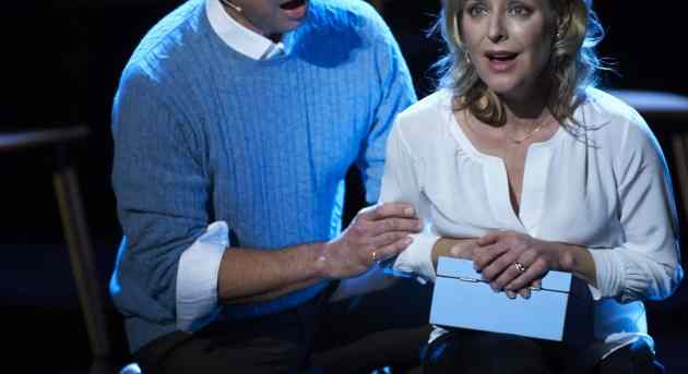 Brendan Hanson, Rachael Beck. Next to Normal. Image by Gary Marsh
