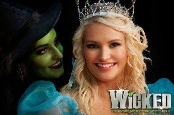 Kimberly Harris and Lisa Taylor Casserly in Stray Cats Theatre's Wicked. Photography by Jon Lambert.
