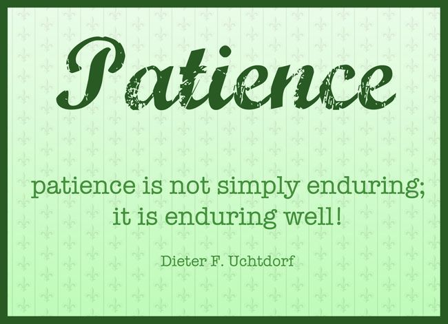 The Art of Patience