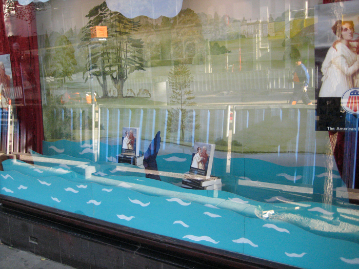 Sea Monsters display in Amsterdam bookshop window