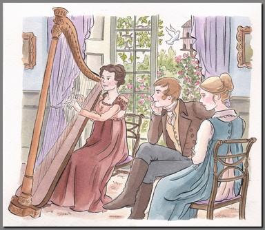 Illustration by Ann Kronheimer, Mansfield Park, Real Reads,(2008)