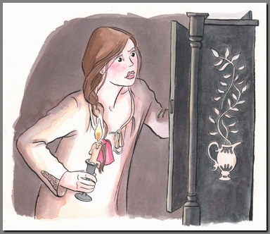 Illustration by Ann Kronheimer, Northanger Abbey, Real Reads,(2008)