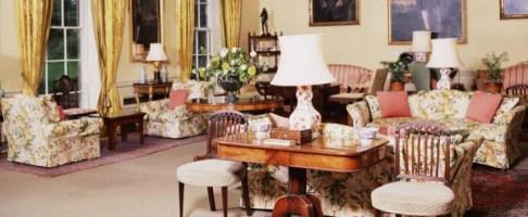 Sitting room at Hillington Hall