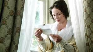 Lizzy reading letter