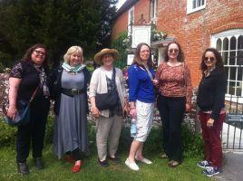 Jane Austen Variations authors together at Jane Austen's House! Monica Fairview, Jane Odiwe, Susan Mason-Milks, Leslie Diamond, Abigail Reynolds, Maria Grace