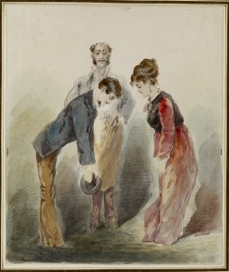 Alfred_Grevin_-_Man_Bowing_to_a_Woman_-_Walters_372806
