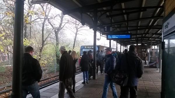 S-Bahnsteig Köpenick - Richtung Ostkreuz