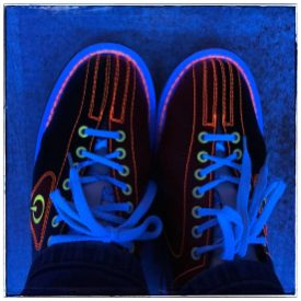 Beim Bowling - schicke Schuhe