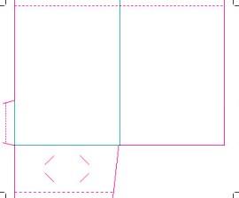 "Pocket Folder 9x12"" with single 4"" flap"