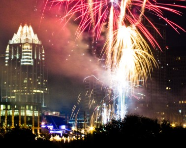 austin new years fireworks july 4th independence day celebration party lights show display