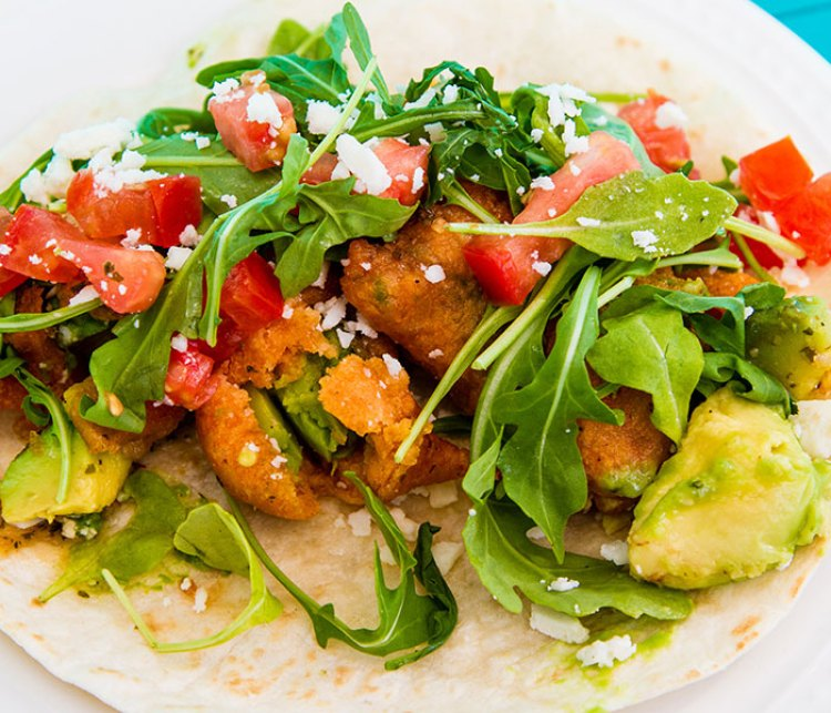 "<I>Fried avocado taco. Photo: Courtesy, <a href=""http://mellizoztacos.com"" target=""_blank"">mellizoztacos.com</a>.</I>"