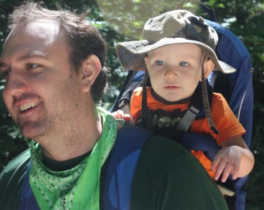 A father and son on a nature hike. Photo: U.S. Fish and Wildlife Service on Flickr, creative commons licensed.