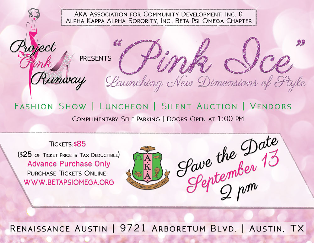 "Austin.com Alpha Kappa Alpha\'s ""Project Pink Runway Fashion Show"""