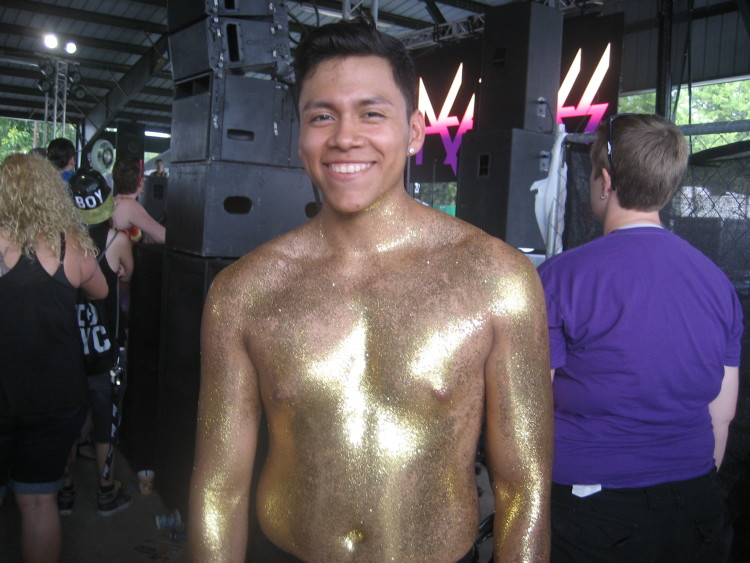 If you can't sport a rainbow ensemble, at least cover yourself in glitter.