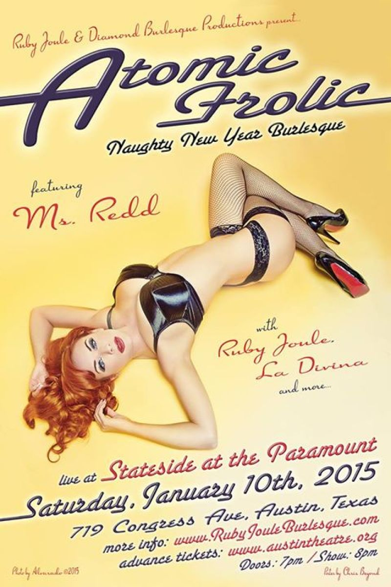 Get your burlesque on at the Atomic Frolic New year!