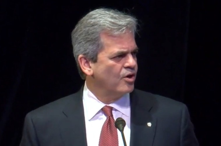 Austin Mayor Steve Adler giving his 'State of the City' address in 2016.