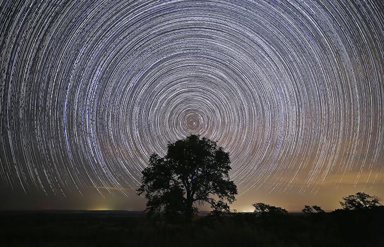ralph arvesen star trails texas hill country