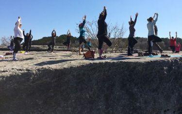 Yoga Hike℠ at McKinney Falls State Park Lower Falls Trail