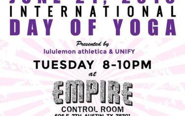 International Day of Yoga feat BODY ROCK ATX – Presented by Lululemon & Unify