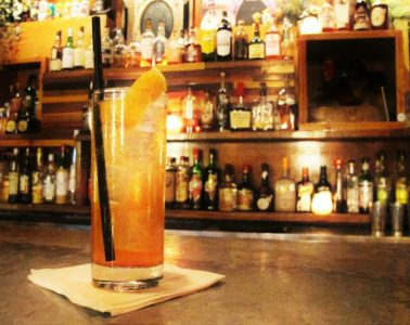 The 'Back to Basics' cocktail at Firehouse Lounge in Austin. Photo by Riley Gentry.