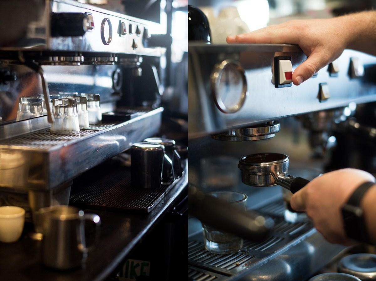 espresso machine coffee beans roast brew
