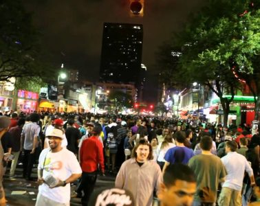 Austin's famous Sixth Street party district. Screenshot via Youtube.