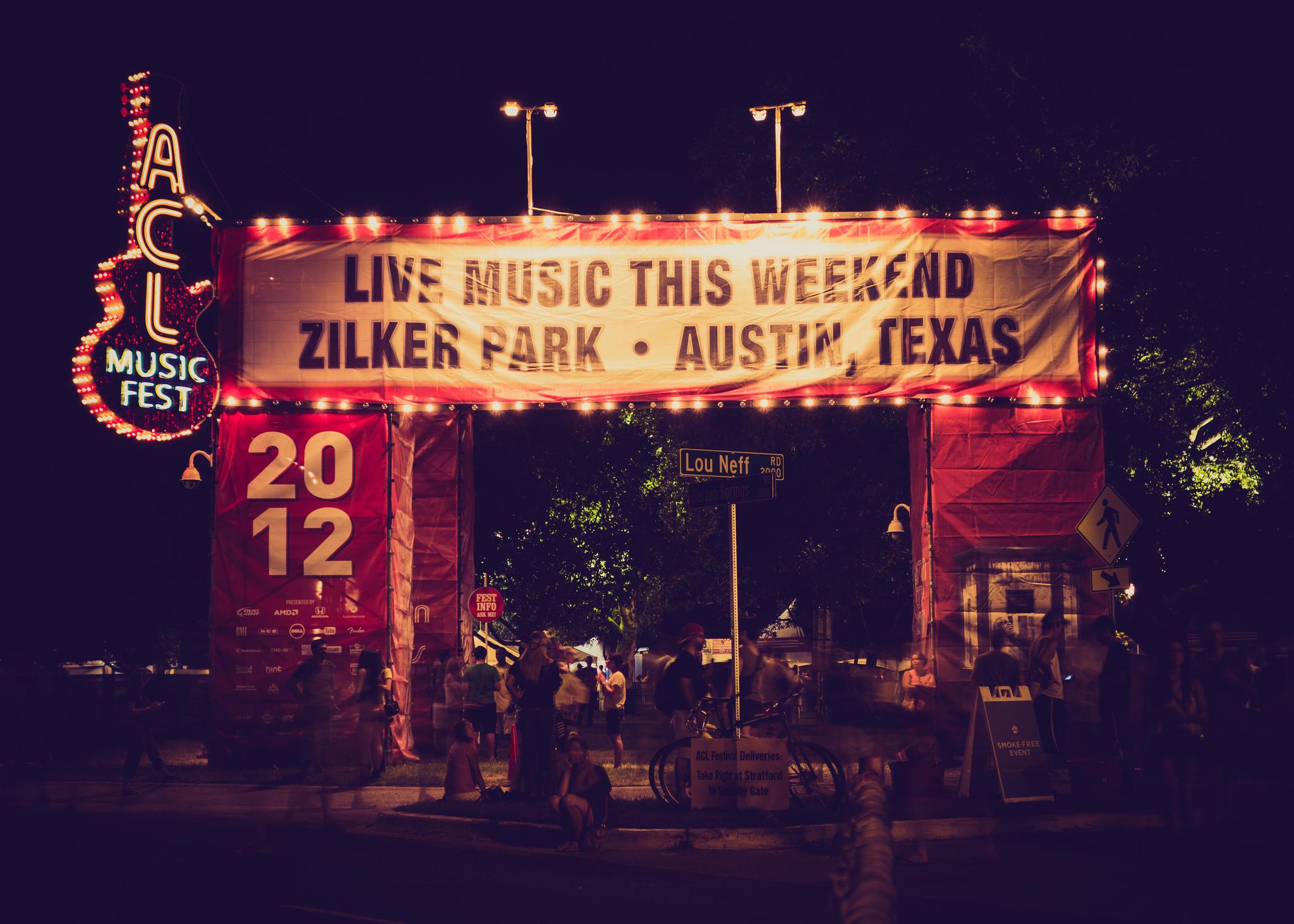 austin city limits live music festival austin texas atx banner arch 15th anniversary 2012 2016