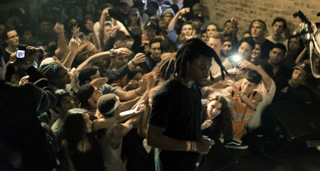 Denzel Curry performing in Austin. Photo by Cody Cowan.