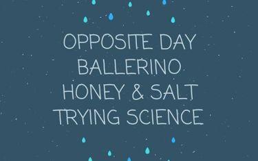 Opposite Day // Ballerino // Honey & Salt // Trying Science