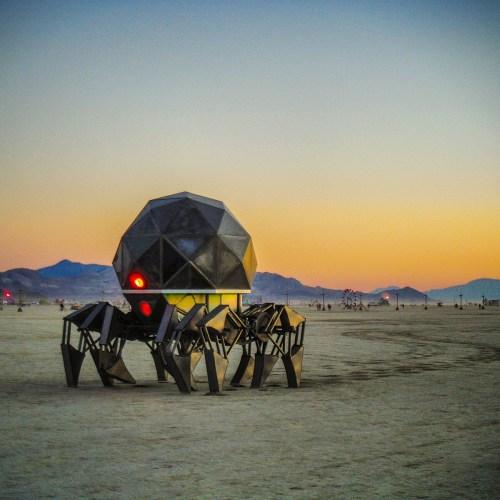 Tinspider on the playa