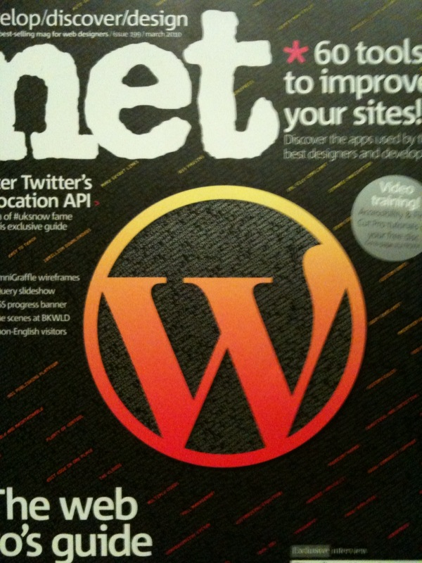.Net Mag uses the wrong WordPress logo on the cover