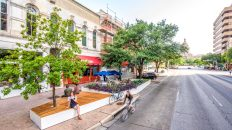 Congress Avenue's Pocket Patio Transformation, Mapped