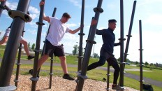Let's All Get Pumped at Butler Shores, With Public Workout Equipment on Deck