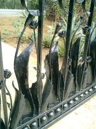 Agave Rose Vineyard Gate  Lars Stanley Metalworks  The Guild of Austin Artisans